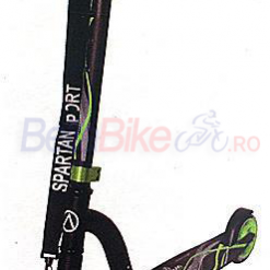 Trotineta Spartan Suspension Scooter 2290, verde-negru