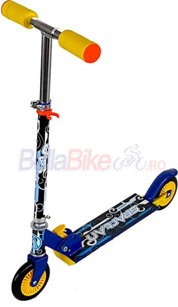 Trotineta Spartan Junior Steel Scooter,125mm, albastra
