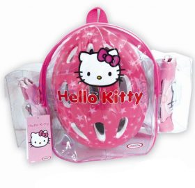 Set + casca de protectie Spartan Hello Kitty, roz