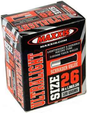 Camera 26x1.90/2.125 SV Maxxis Ultralight 0.6mm Schrader (NEGRU)