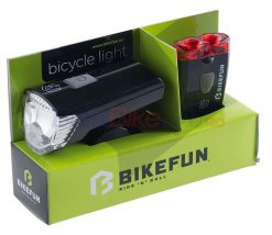 Set far Bikefun RAY, 1+2 LED USB, negru