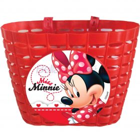 Cos de bicicleta detasabil Minnie Mouse (ROSU)