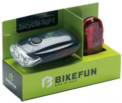 Set de far + stop Bikefun Blaze, 3+5 LED, negru