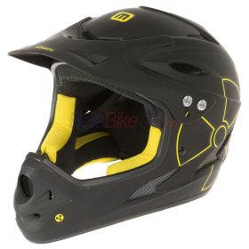 Casca downhill Full Face Mighty Fall Out, negru-galben