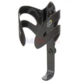 Suport bidon carbon Tour de France, 16grame, negru