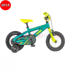 Bicicleta Scott Voltage JR 12, 2018, verde-galben