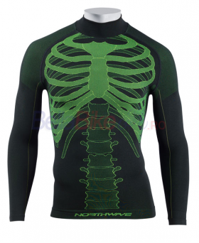 Haina de corp Northwave Body Fit Evo, lung, verde-negru