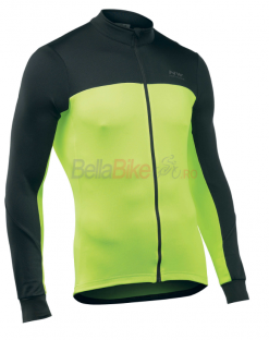 Tricou lung ciclism Northwave Force 2, galben-fluo