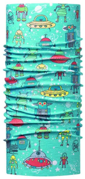 Bandana BUFF Baby Hight UV Space Robots, albastru