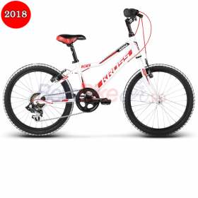 "Bicicleta Kross Hexagon Mini, 20"", 2018, alb-rosu"