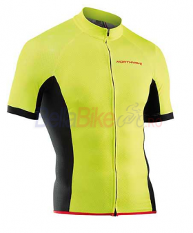 Tricou ciclism scurt Northwave Force, fermoar lung, galben fluo