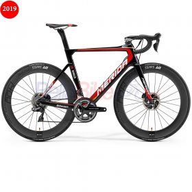 Bicicleta sosea Merida REACTO DISC TEAM-E Bahrain Team, 2019, negru-rosu