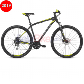 Bicicleta Kross HEXAGON 5.0, 2019, negru-gri-lime  Mega Shop products Bicicleta Kross HEXAGON 5