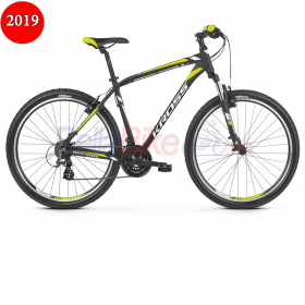 Bicicleta MTB Kross Hexagon 2.0, 2019, negru-alb-lime