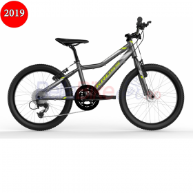 Bicicleta copii Kross HEXAGON MINI, 2019, gri-lime-argintiu