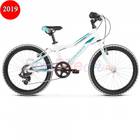 Bicicleta copii Kross LEA MINI 1.0, 2019, alb-turcoaz
