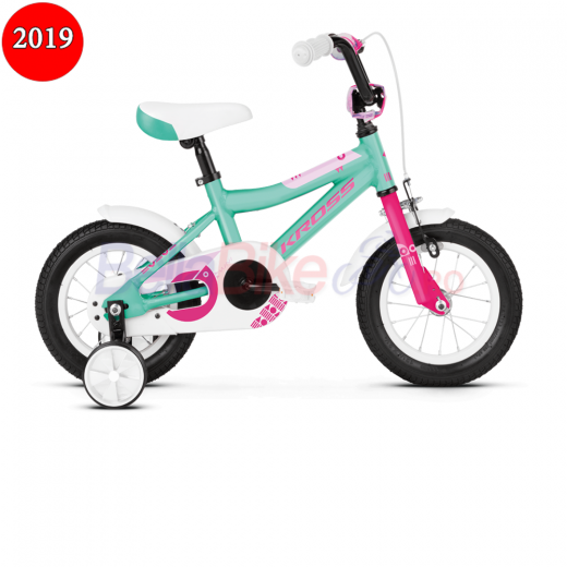 Bicicleta copii Kross MINI 2.0, 2019, turcoaz-roz