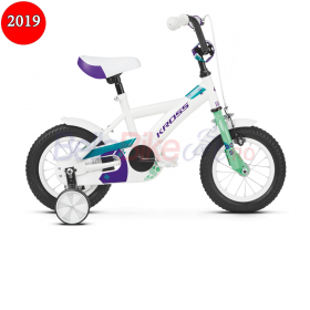 Bicicleta copii Kross Mini 1.0, 2019, alb-mint-violet