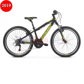 Bicicleta junior Kross DUST JR 1.0, 2019, negru-lime