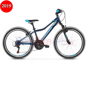 Bicicleta junior Kross HEXAGON JR 1.0, 2019, albastru-argintiu
